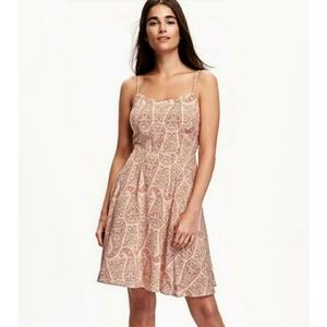 Old Navy Paisley Fit & Flare Cami Dress Small